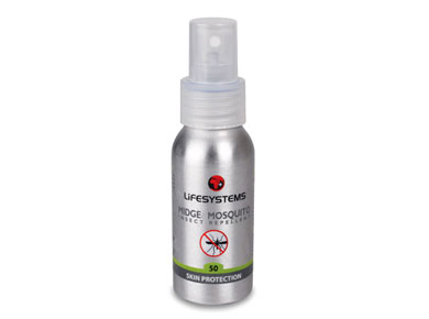 Lifesystems Midge & Mosquito 50 Insect Spray Repellent