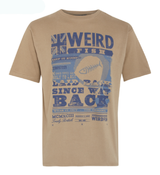 Weird Fish Whitakers Front Print T Shirt